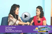 Second Prize Winner Rita Silakar  Budhanilkantha , Kathmandu